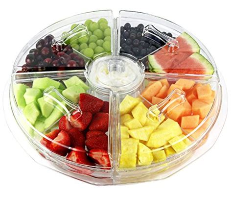 serving platters with sections estilo 8 section appetizer platter on ice with lids clear