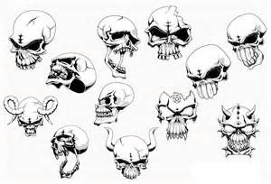 angry skull with horns vector free download