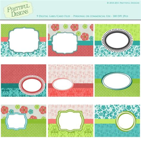 design label card printable labels cards or tags for scrapbooking gifting