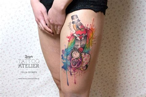 watercolor tattoo black skin 90 watercolor ideas that turn skin into canvas