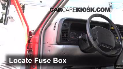 interior fuse box location   dodge ram