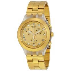 swatch blooded chronograph dold gold tone