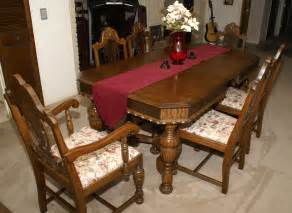 vintage dining room table and chairs 12246