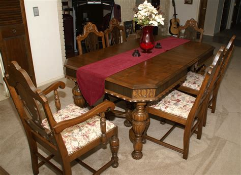 Antique Dining Room Table by Vintage Dining Room Table And Chairs 12246
