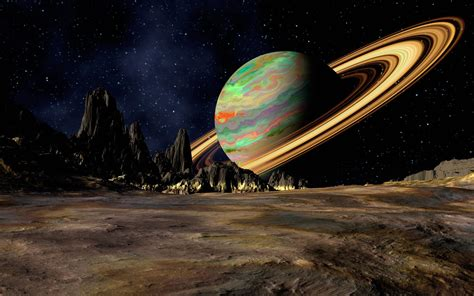 Desktop hd real images of saturn the planet