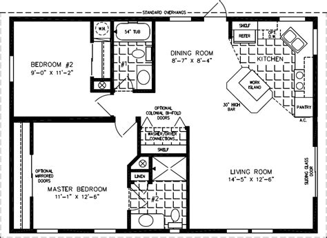 800 Square Feet Dimensions by Floorplans For Manufactured Homes 800 To 999 Square Feet