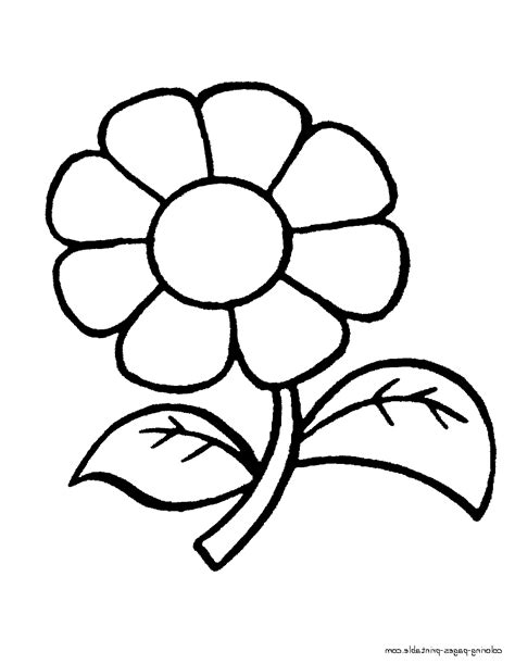 easy nature coloring page drawing of nature easy for kids with colouring easy