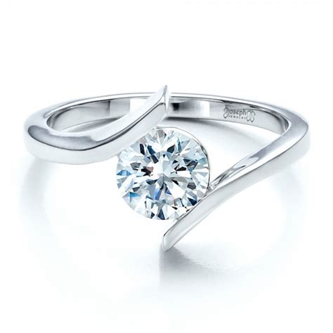 Tension Engagement Rings contemporary tension set solitaire engagement ring 1481