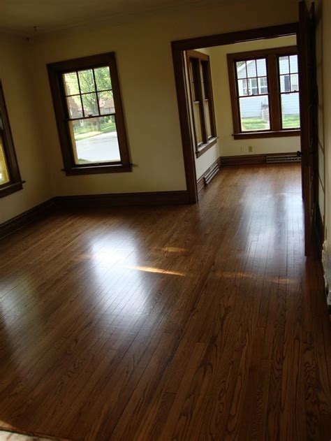 stained or painted trim with wood floors