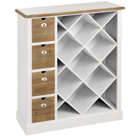 Wine Storage Cabinet Shaker White Wooden Wine Storage Cabinet