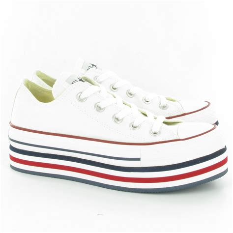platform sneakers converse converse allstar platform ox wedge shoes in white