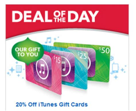 buy printable itunes gift card best buy deal of the day 20 off itunes gift cards