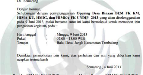 contoh surat permohonan izin kegiatan untuk kepala desa