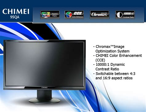 Monitor Led Chimei chimei 95qd 18 5 inch lcd monitor with built in speaker