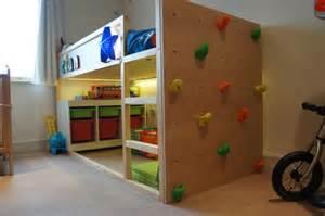 Toddler Boy Beds Ikea Kura Bed With Climbing Wall Ikea Hackers