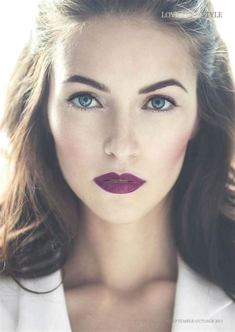 natural look 2015 fashionable purple lipstick makeup ideas styles weekly