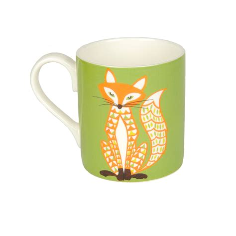 fox mug fox bone china mug helen gordon