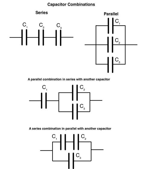 capacitor in parallel vs series combination capacitor circuits physics socratic