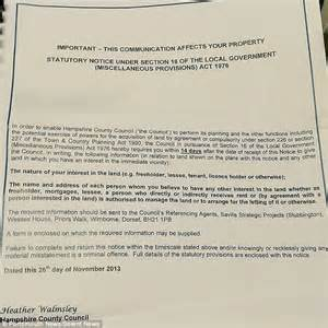 letter to homeowner to buy house hshire county council mistakenly sent letters saying homes were to be bulldozed daily mail