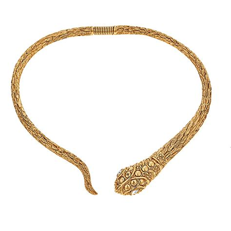 kenneth snake collar necklace hauteheadquarters