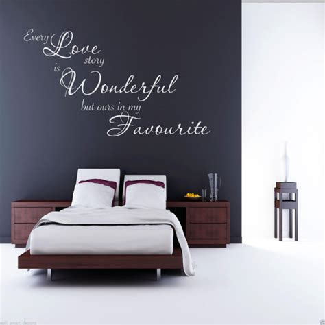 Decor Wall Sticker scritte decorative in camera da letto ecco 20 idee