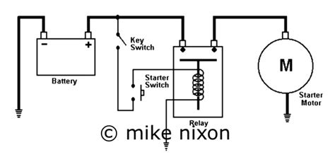 motorcycle starter relay wiring diagram free
