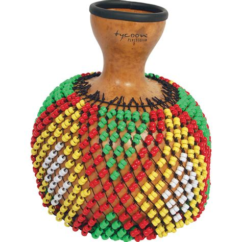 beaded gourd instrument tycoon percussion gourd shekere large tskg l b h