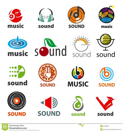 Sound Of Ibiza Logo 4 set of vector logos sound and stock vector image