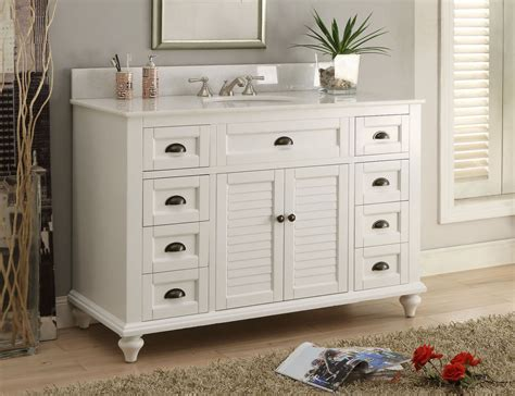 White Cottage Bathroom Vanity Glennville 49 Quot Cottage Bathroom Vanity Cabinet Set In White Gd28327 Ebay