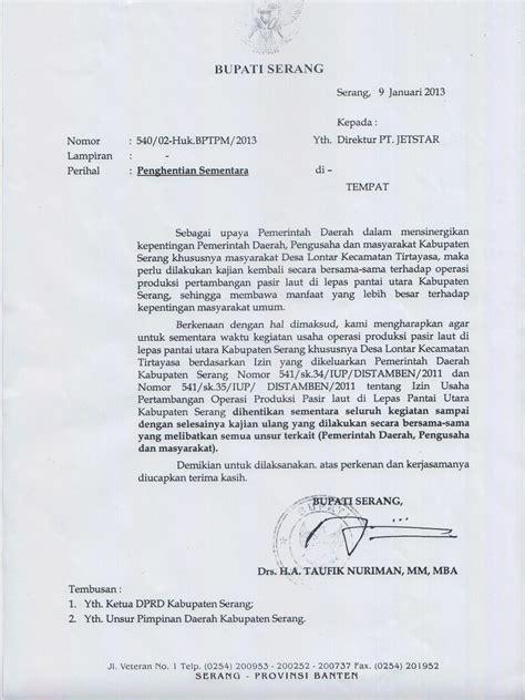 contoh surat izin aksi wisata dan info sumbar