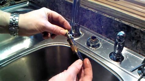 How To Repair A Leaking Kitchen Faucet moen kitchen faucet 1225 cartridge repair or replacement