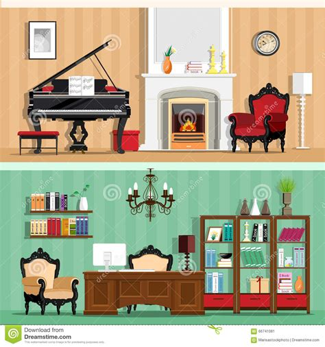 home interior design vector set of colorful vector interior design house rooms with