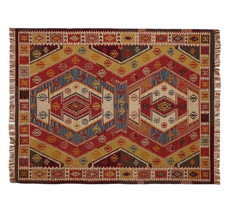 pottery barn indoor outdoor rug recycled yarn kilim indoor outdoor rug warm multi