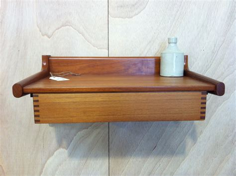 Oak Floating Shelf With Drawer by Dashing Brown Solid Wood Floating Shelf With Drawer On