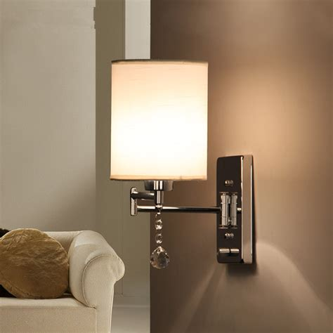 Modern Wall Lights For Living Room Wall Sconce Ideas Modern Fabric Chrome Sconce Wall