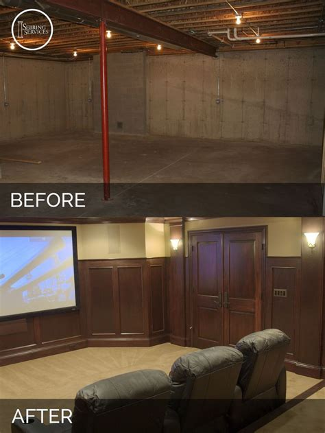 basement remodeling ideas before and steve elaine s basement before after pictures