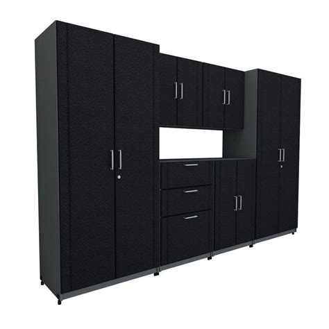 Closetmaid Parts Catalog closetmaid 112 in w x 73 25 in h x 18 75 in d basic plus system in black 6 shop