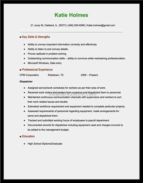 how to write a resume for 911 dispatcher 28 images