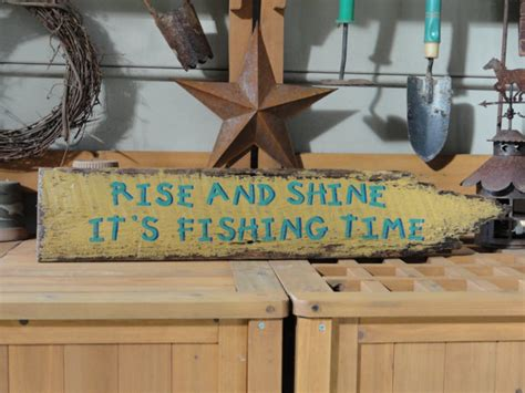 fishing decor for homes fishing sign lake house decor country cabin primitive