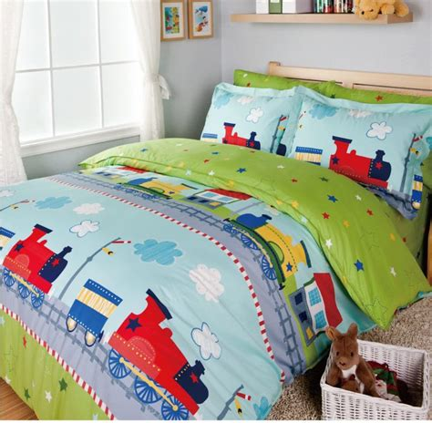 boys queen size comforter sets train bedding sets kids bed bed cover set sheets for bed