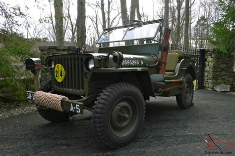 1945 Army Jeep 1945 Willys Mb Wwii Jeep Army Antique