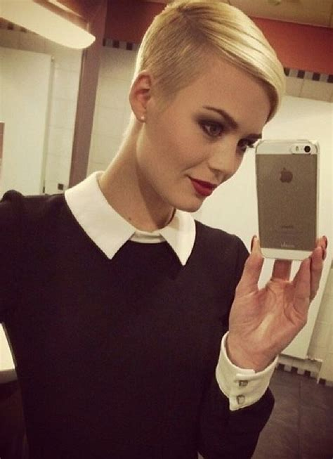 pixie cut with razor comb shorts blondes and undercut on pinterest