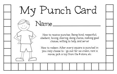 punch card template best photos of student punch card template free