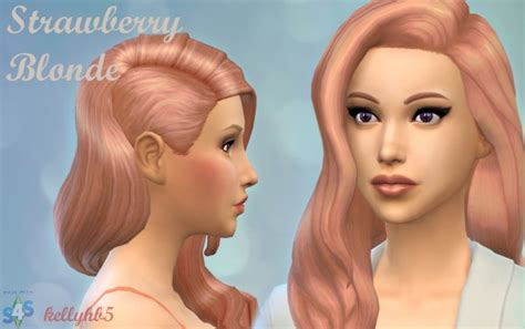 sims 4 hairstyles mods sims 4 hairs mod the sims strawberry blonde hairstyles