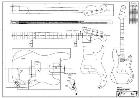 p bass template p bass plan de b 226 timent dessin f tonholz w fender