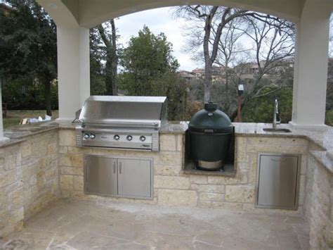 green egg gas grill outdoor grill area with green egg and gas grill