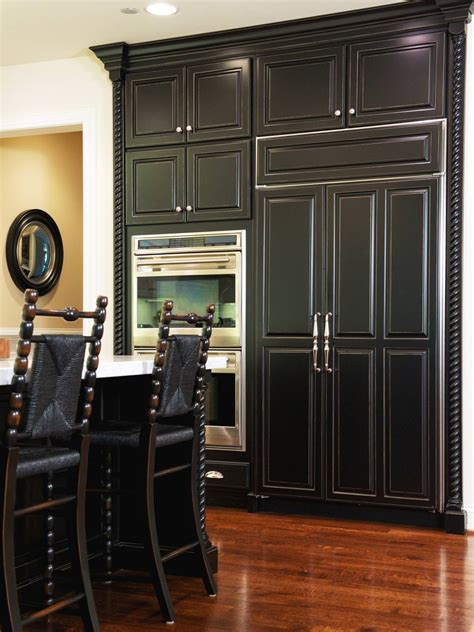 24 Black Kitchen Cabinet Designs Decorating Ideas Kitchen Cabinet Black