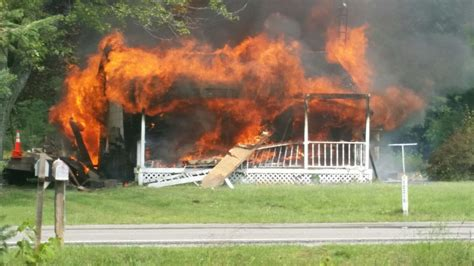 House Explosion by Reported Explosion Sets House Ablaze In Montrose Township Mlive