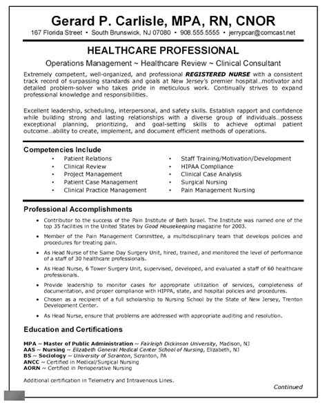 Resume Sle For Staff Nurses Sle Resume Pdf Format Sales Sheets Templates