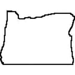 state of oregon outline map rubber st